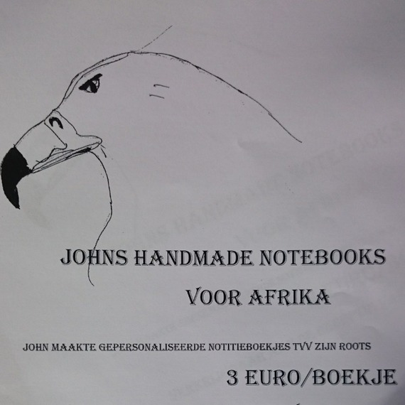 Johns handmade notebooks voor Afrika